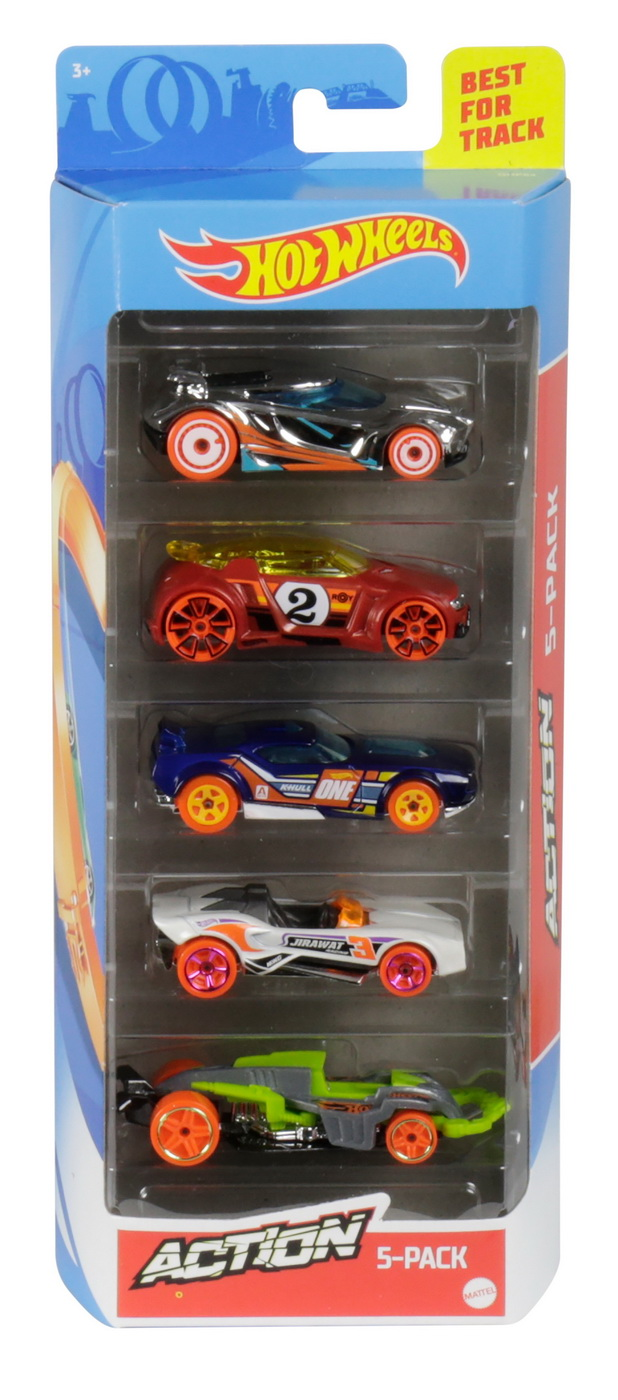 Set 5 Masini Hot Wheels Action | HOT WHEELS - Vehicule