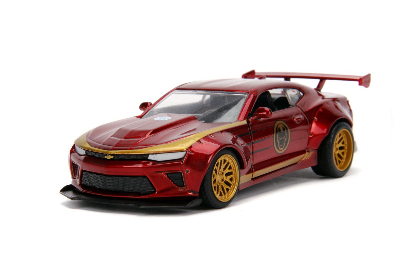 Masinuta Metalica Iron Man 2016 Chevy Camaro Ss Scara 1 La 32 | JadaToys - 1