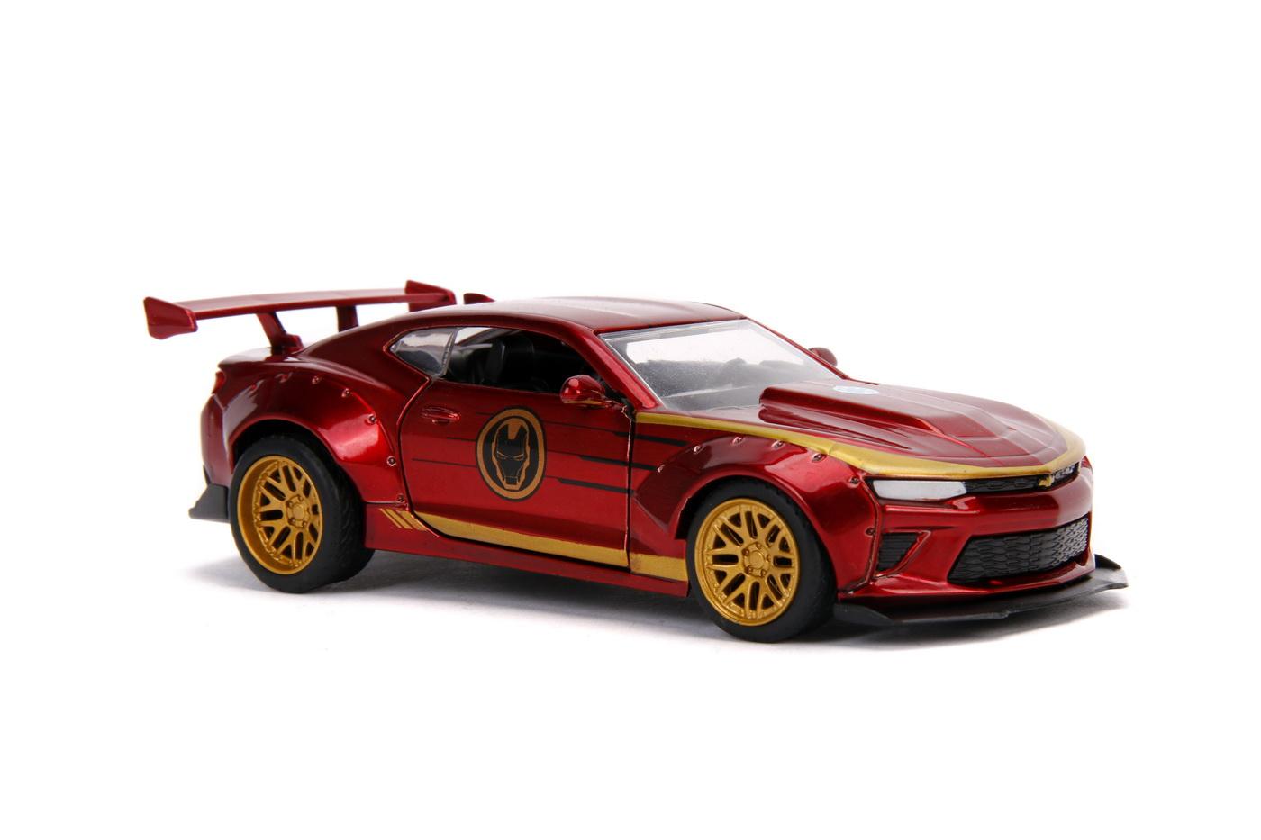 Masinuta Metalica Iron Man 2016 Chevy Camaro Ss Scara 1 La 32 | JadaToys - 3