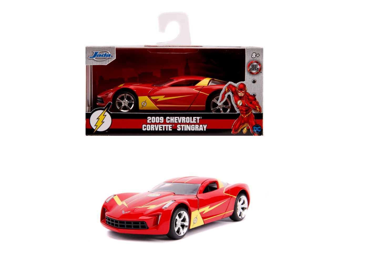 Masinuta Metalica Flash 2009 Chevy Corvette Scara 1 La 32 | JadaToys