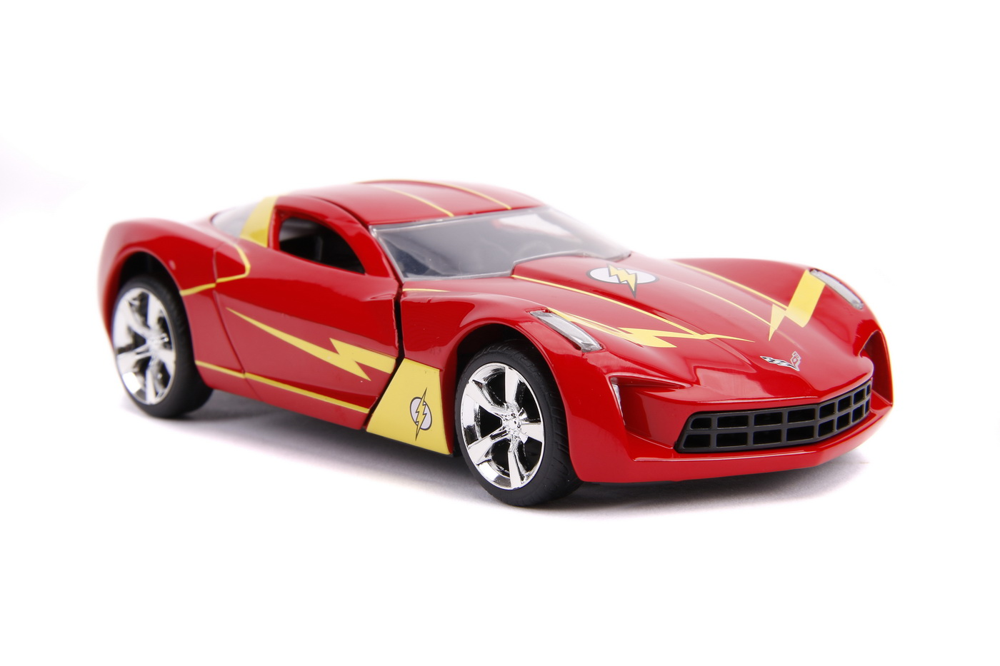 Masinuta Metalica Flash 2009 Chevy Corvette Scara 1 La 32 | JadaToys - 5