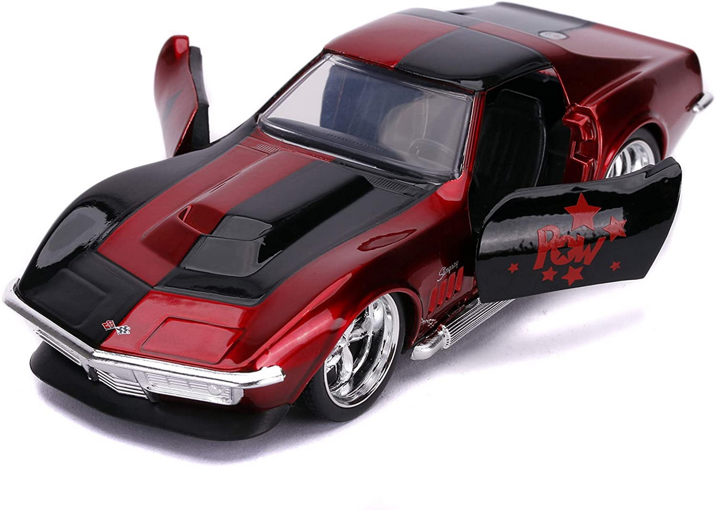 Masina Metalica Harley Quinn 1969 Corvette Stingray Scara 1 La 32 | JadaToys - 1