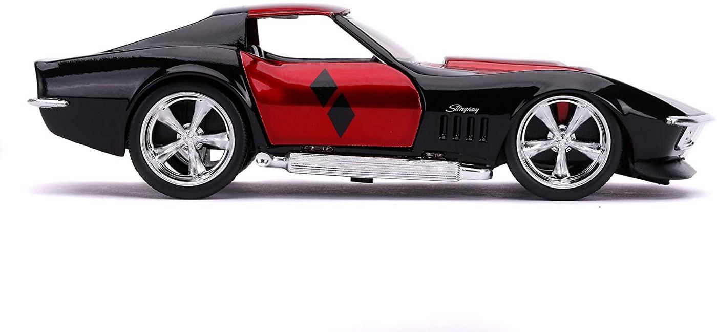 Masina Metalica Harley Quinn 1969 Corvette Stingray Scara 1 La 32 | JadaToys - 5