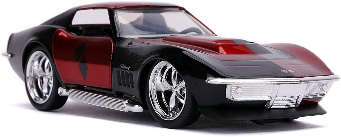 Masina Metalica Harley Quinn 1969 Corvette Stingray Scara 1 La 32 | JadaToys - 7