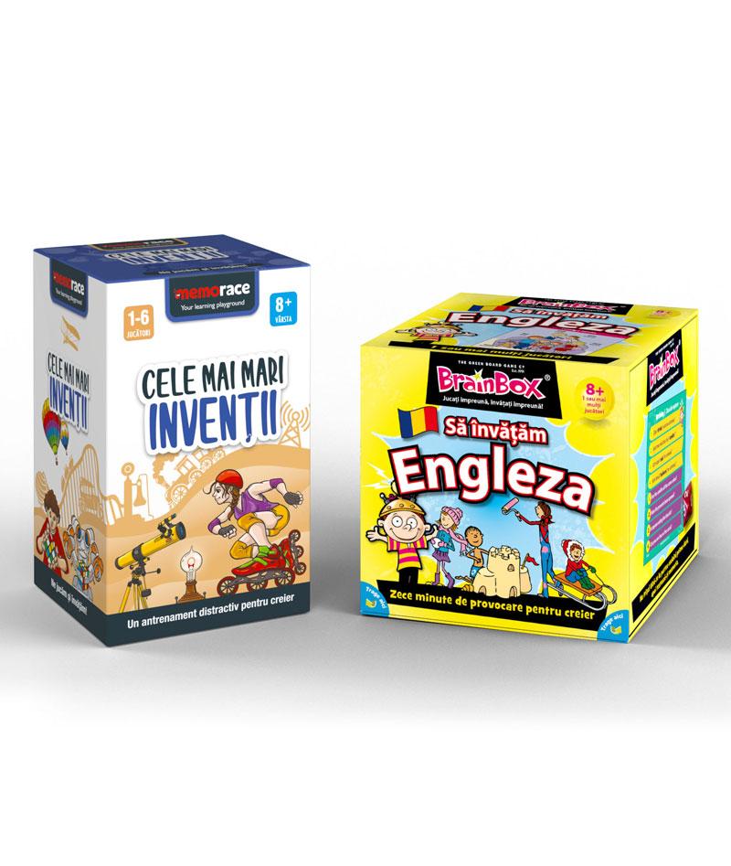 Pachet educativ: BrainBox - Sa invatam engleza + Memorace – Cele mai mari Inventii