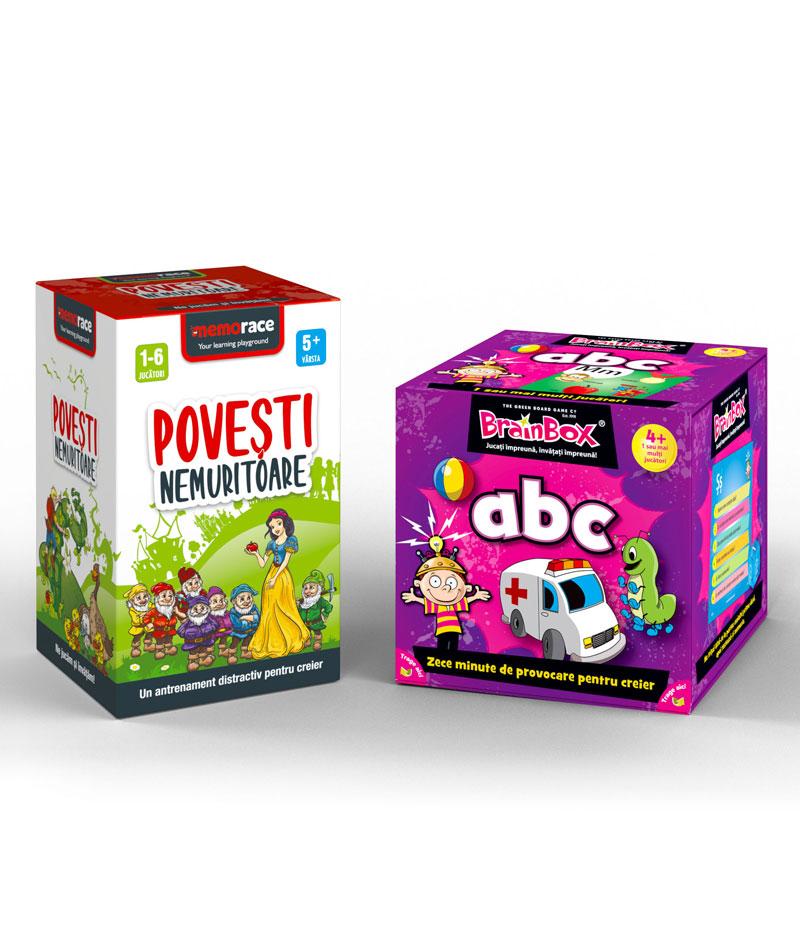 Pachet educativ: BrainBox - ABC & MemoRace Povesti nemuritoare