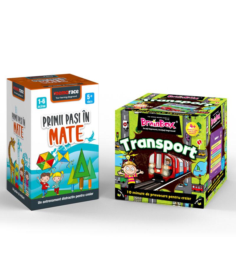 Pachet educativ: BrainBox - Transport + Memorace primii pasi in Mate
