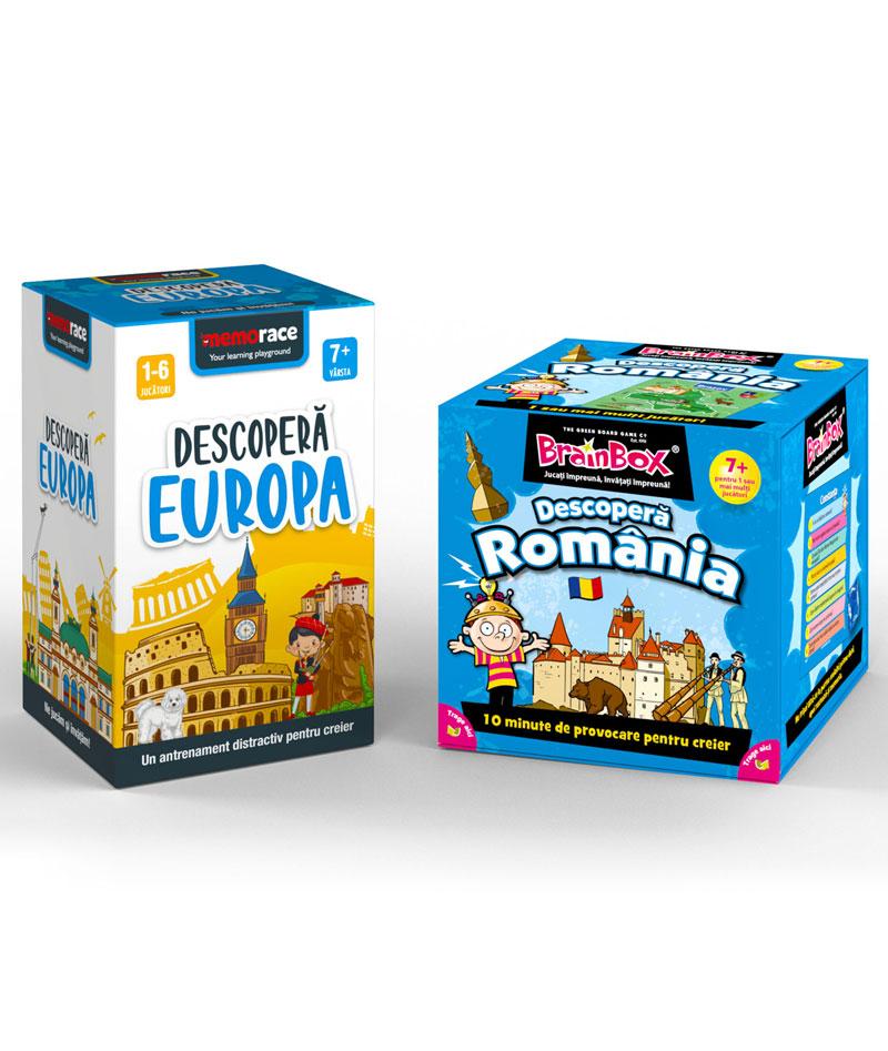 Pachet educativ: BrainBox - Romania + Memorace Descopera Europa