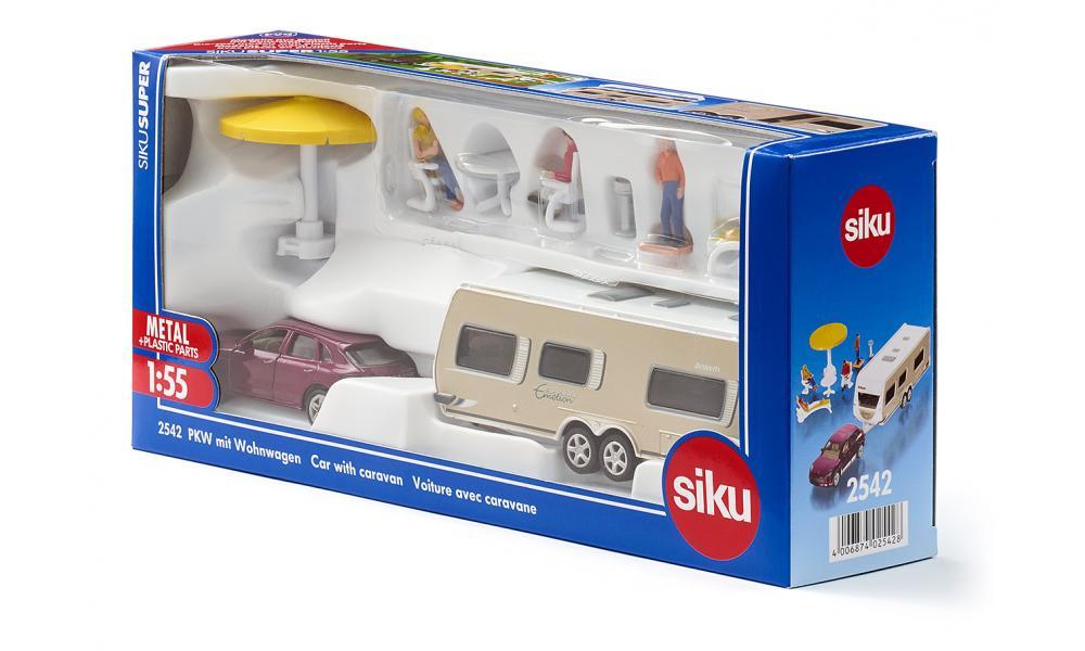 Jucarie - Car with Caravan   Siku - 3