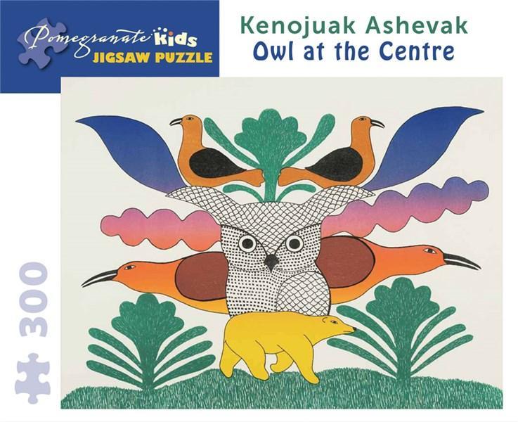 Puzzle - Owl at the Center - Kenojuak Ashevak | Pomegranate