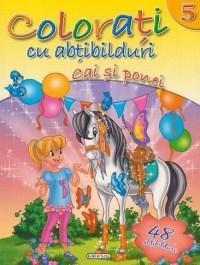 Colorati cu abtibilduri 5 - Cai si ponei (48 abtibilduri)  