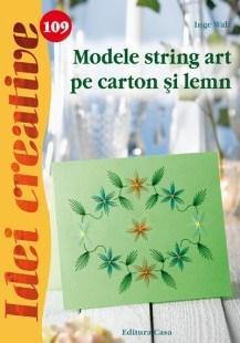 Modele string art pe carton si lemn - Idei creative 109