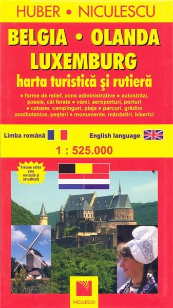Belgia, Olanda, Luxemburg - Harta turistica si rutiera