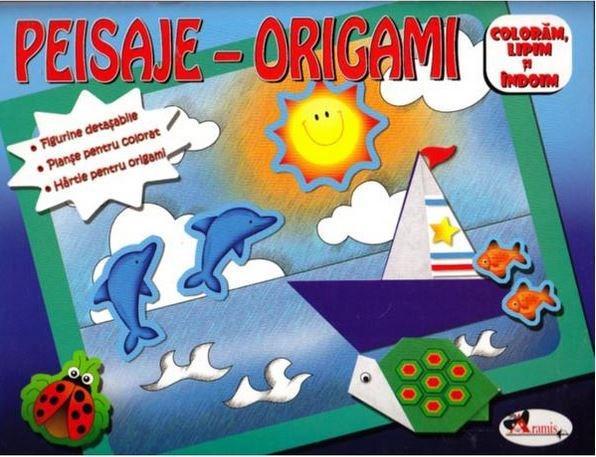 Peisaje-origami (albastru) |