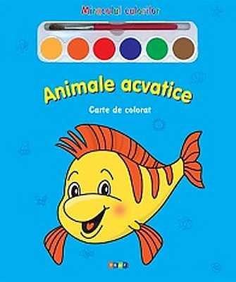 Animale Acvatice - Carte De Colorat |