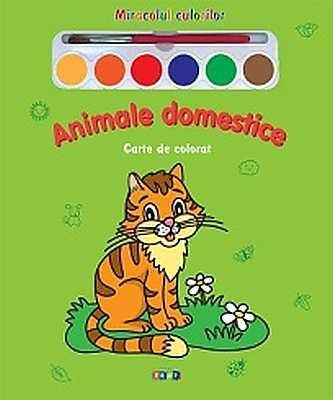 Animale domestice - Carte de colorat