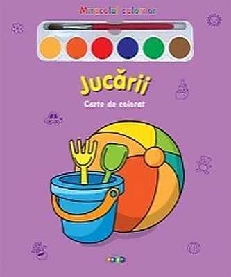 Jucarii - Carte de colorat