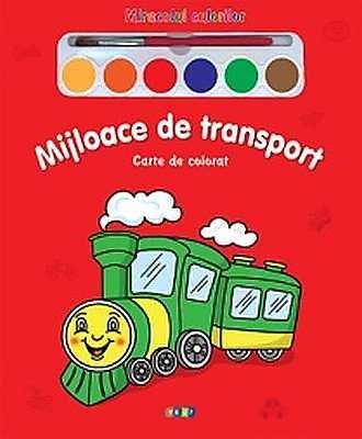 Mijloace de transport - Carte de colorat