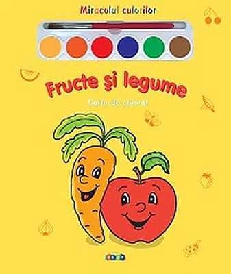 Fructe si legume - Carte de colorat
